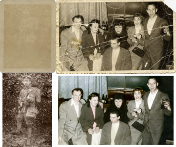copies of old photos restored and coloured